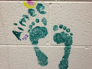 Aimee's footprint at Grace Covenant Presbyterian Church