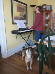 Sparky and me singing.