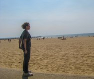 Here I am at the beach during the Summer Institute on Theology and Disability in Holland, MI