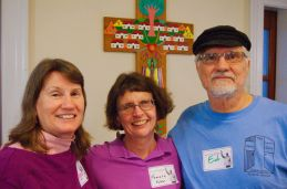 Joyce and me with Ed Loring of the Open Door Community