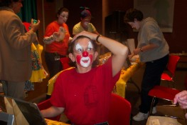me as Raindrop the Clown