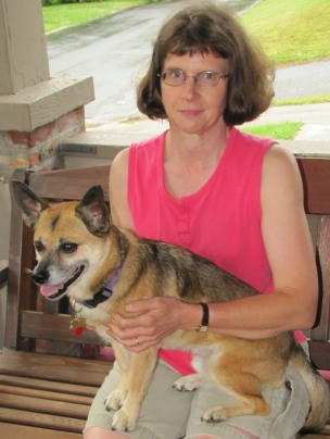 me and Sparky on our front porch